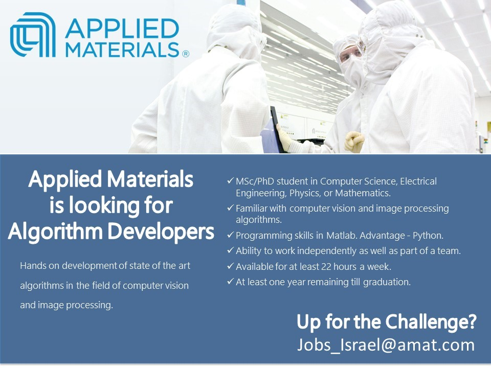 Algorithm Student - Applied Materials 21.1.18