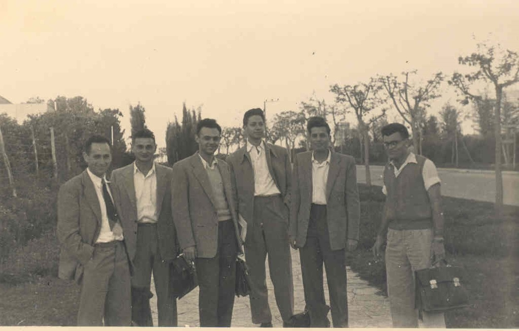 group of Ph.D physics students 1957