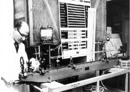 Physics department laser 1966
