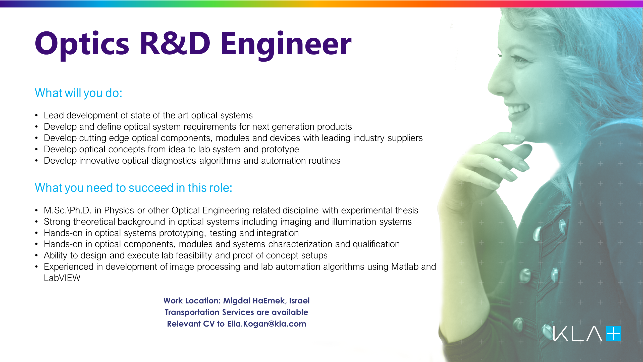 Optics RD Engineer job offer