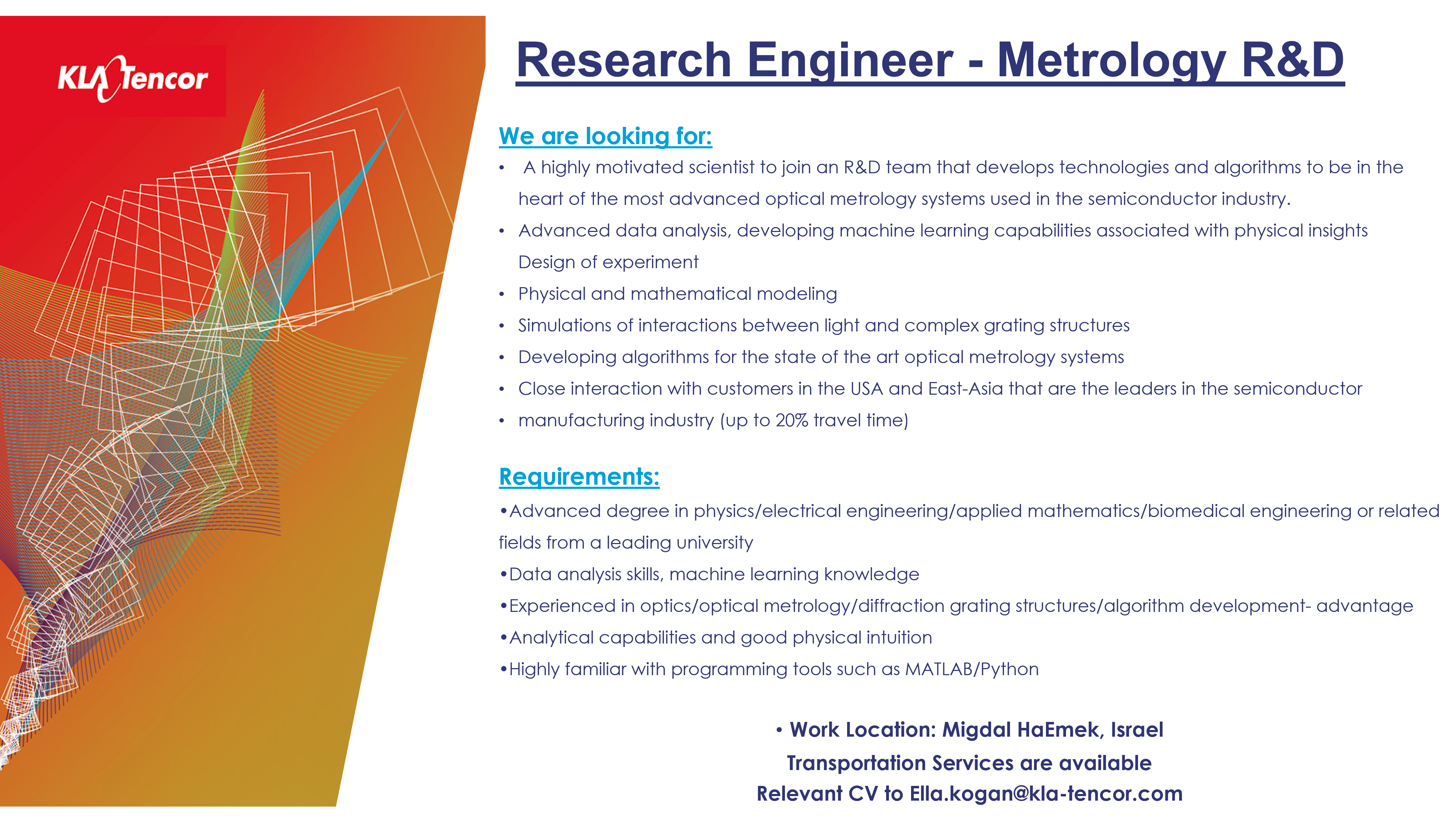 Research Engineer-Metrology RD
