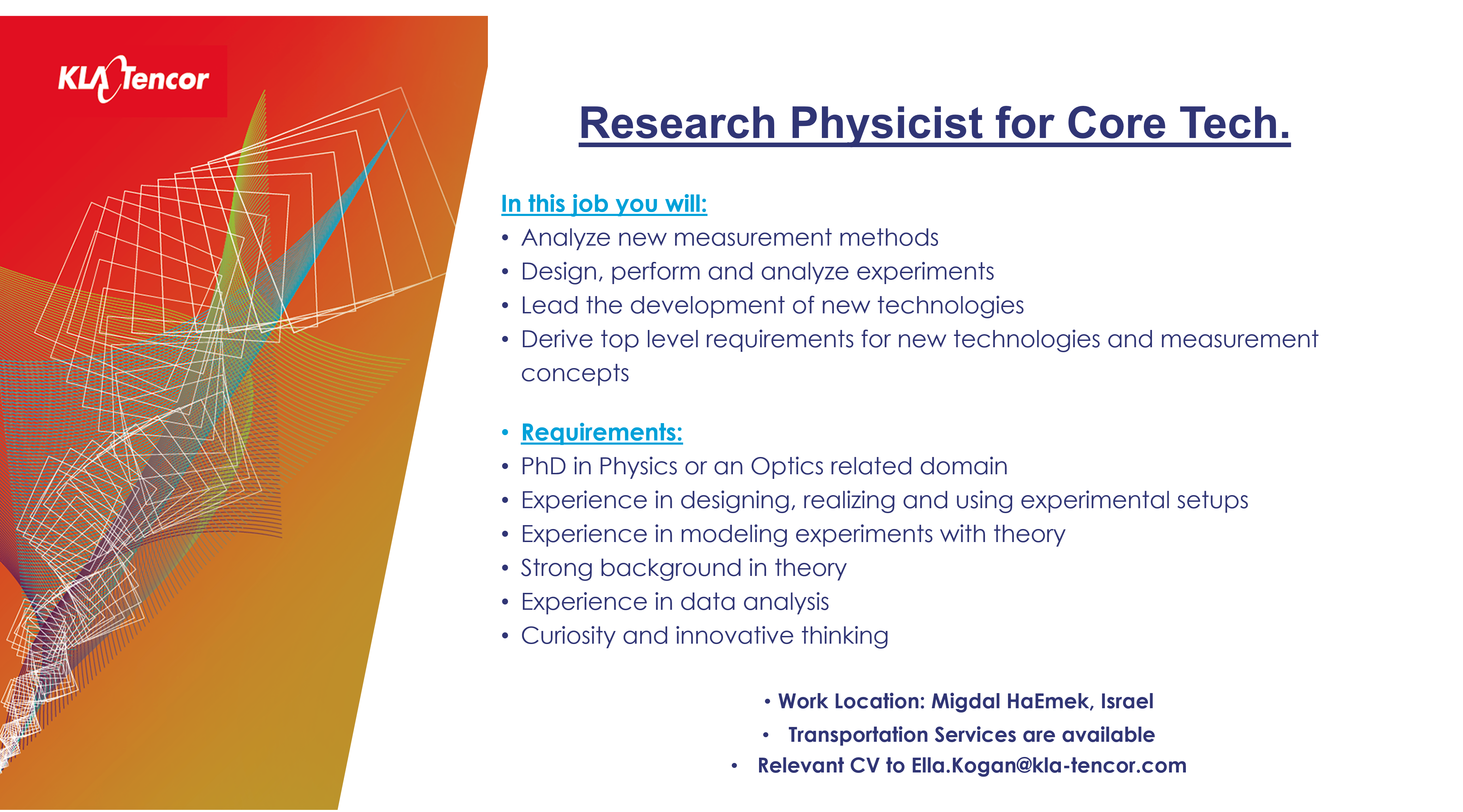 Research Physicist for Core Tech